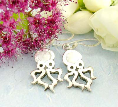 Cheap jewelry shopping online 925 sterling silver earrings designed with lustrous octopus