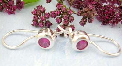 wholesale earring of gemstone garnet sterling silver jewelry