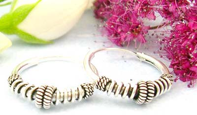 Discount shopping in Canada cute gift jewellery of sterling silver earring with different wire pattern design