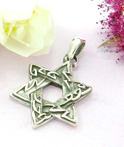 Celitc pendants for sale shopping sterling silver with double triangle forming star pattern