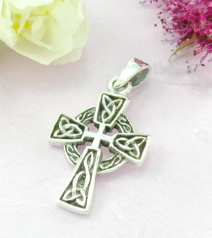 Shopping religious pendant store sterling silver pendant with celtic eternal circle cross design