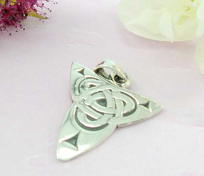 Discount tattoo pendant shopping mall sterling silver pendant design with irregular triangle and celtic knot at the center