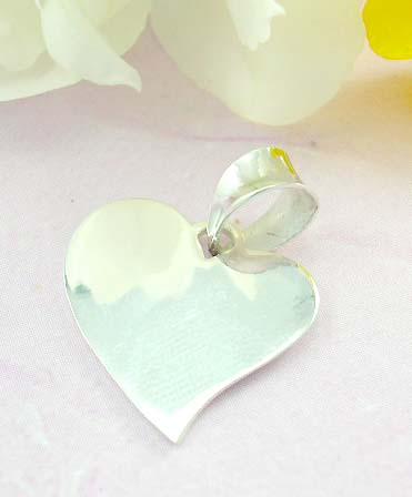 Collectable jewelry shopping 925 Sterling silver pendant with fashion heart shape