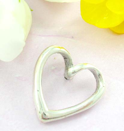 Shopping collectable pendant 925 Sterling silver pendant with cut-out thick heart shape