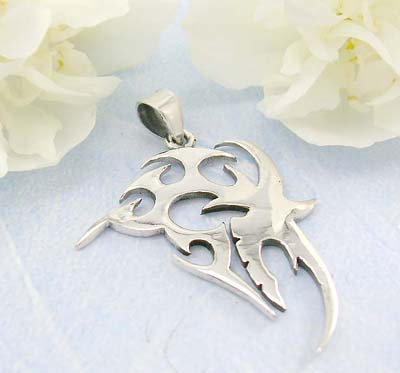 Shopping tattoo jewelry store fashion tattoo pattern design in sterling silver pendant