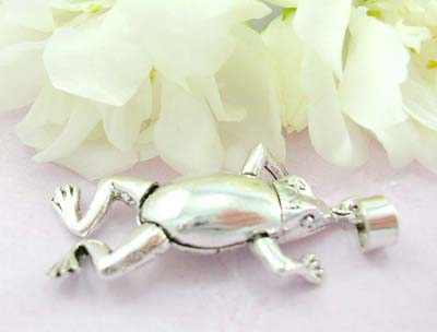 Animal pendant collection shopping sterling silver pendant with plain moveable frog
