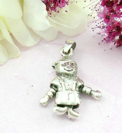 Shopping trendy teen jewelry sterling silver pendant with moveable soldiers
