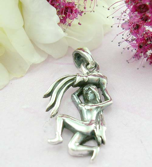 Fresh look pendant jewelry shopping online sterling silver pendant with women holding a vase