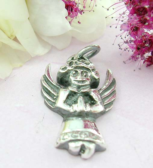 Shoppping angel pendant online sterling silver angel pendant with wings