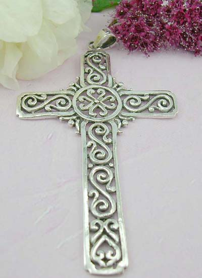 Free body pendant shopping cut-out pattern decor Celtic cross pattern design sterling silver pendant