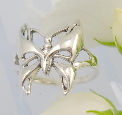 wholesale jewelry products catalog sterling silver ring with shinning butterfly